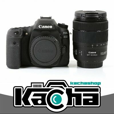 NUEVO Canon EOS 80D Digital SLR Camera + 18-135mm f/3.5-5.6 IS USM Lens