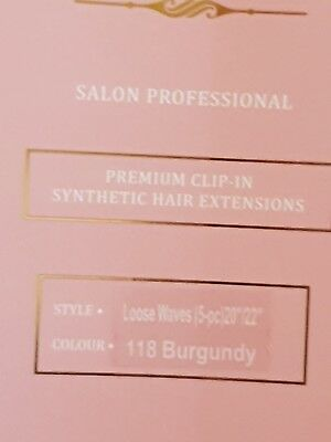 NEW Clip in hair extensions synthetic burgundy