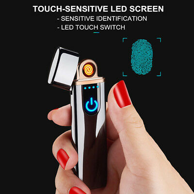 Touch Induction USB Electric Rechargeable Flameless Windproof Cigarette Lighter