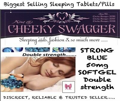 96x Strong Sleeping pills Sleep Aid Tablet 50mg blue softgels🎀PRICE DROPPED🎀