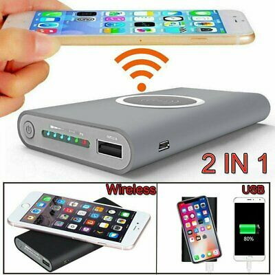 Waterproof 100000mah Power Bank 2 USB Solar Pack Battery Charger Fr Mobile Phone