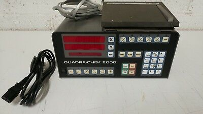 Quadra Check 2000 XY Digital Readout with radius foot pedal  SPARES OR REPAIR