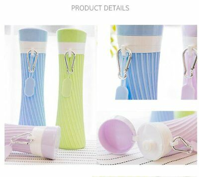 Outdoor Silicone Foldable Water Bottle Flexible Drink Travel Sporting Gym CuZ
