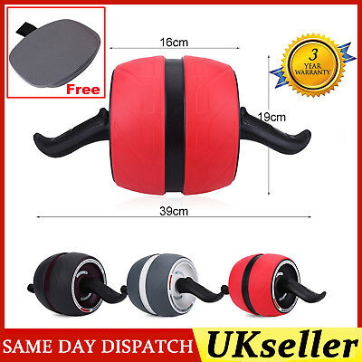 Fitness Abdominal Carver Pro Exercise Wheel Roller With Pad Abs Workout Gym UK