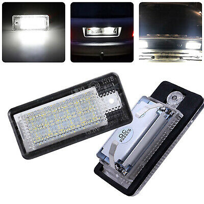 2PCS 18LED Number License Plate Lamp White Light For Audi A3 S3 A4 A6 B6 B7 Q7