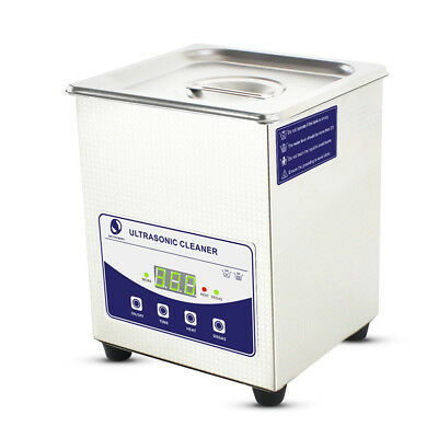 2L 80W Stainless Ultrasonic Cleaner Ultra Sonic Bath Cleaning Tank Timer Heating