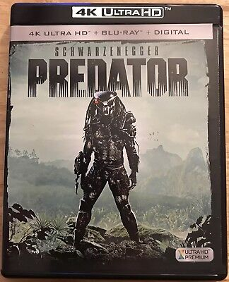 Predator 4K Ultra Hd + Blu Ray 2 Disc Set With Slipcover Free Shipping