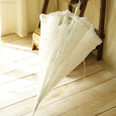 70EF Lace Umbrella Transparent 23 Inch Dome Frilly Weeding Decoration Parasols