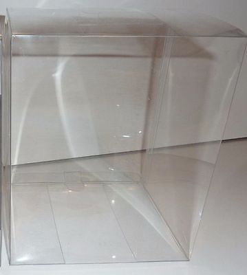 """10 x 6"""" Clear Single Cupcake Boxes. Plastic PVC Muffin Size Crystal"""