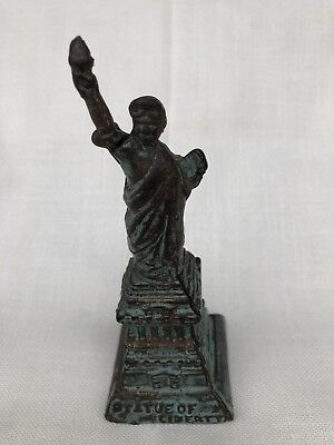 Very Nice Antique Cast Iron Statue Of Liberty Bank