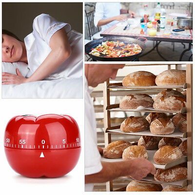 Tomato Shaped Kitchen 60 Minutes Countdown Cooking Mechanical Timer Alarm Clock