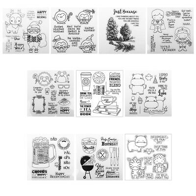DIY Transparent Seal Silicone Clear Rubber Stamp Sheet Cling Scrapbooking Home