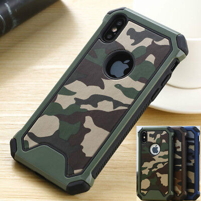 Boys Army Military Camo Case For iPhone XS Max 6 7 8 Shockproof Camouflage Cover