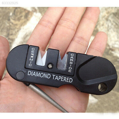 E21D Mini EDC Sharpener Knife  Sharpener Survival Tool Tungsten Steel Outdoor To