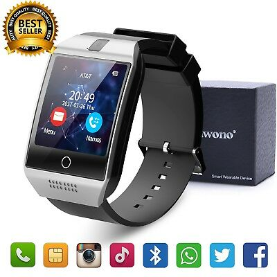 Touch Screen GSM SIM 2G Smart Wrist Watch PhoneMate for Android IOS Camera&Man