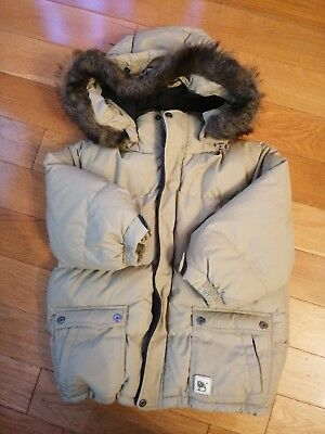 Boys Timberland Fur Hood Jacket Coat