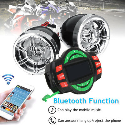 "3"" ATV Motor bike Dirt Bluetooth Audio Radio Sound System Stereo Speakers MP3 FM"