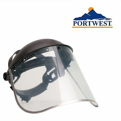 Portwest Face Shield Plus Eye Protection Certified Poly carbonate Aluminium PW96