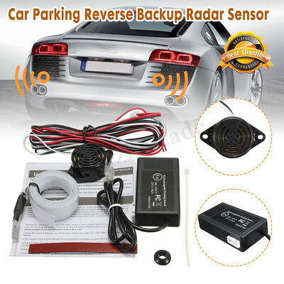 Electromagnetic Rear Backup Radar Parking Sensor Kit No Drills Holes Car Auto