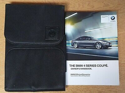BMW 4 SERIES COUPE F32 HANDBOOK OWNER MANUAL WALLET 2013-2018 PACK O-710