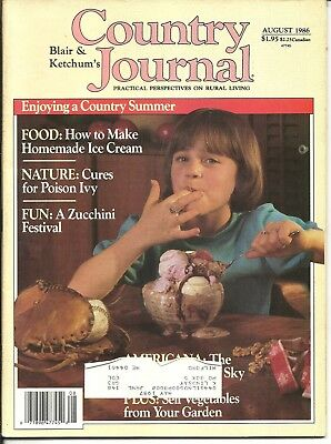 Vintage  Country Journal Magazine * Lot Of 5 Back Issues *1986-1988-1990-1993