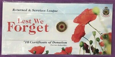 10 x AUSTRALIA 2012 ANZAC $2 REMEMBRANCE DAY RED POPPY COINS UNC ON RSL CARDS