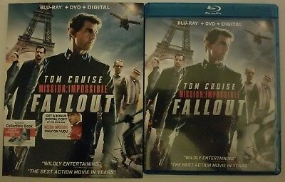 Mission: Impossible Fallout Blu Ray Dvd 3 Disc Set + Slipcover Sleeve Free Ship