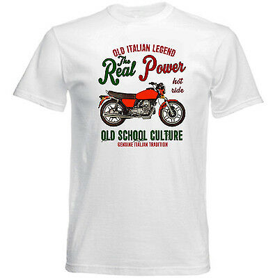 Vintage Italian Motorcycle Moto Guzzi V50 - New Cotton T-Shirt