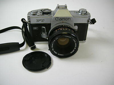 Canon FT QL 35mm SLR Film Camera with 50mm FD f1.8 Lens