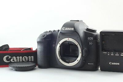 【Exc5 w/ Strap】 Canon Eos 5D Mark II 21.1MP Digital SLR Camera Black from JAPAN