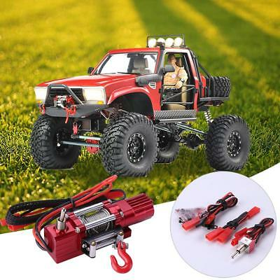 Automatic Metal Crawler Winch Remote Control for 1/10 Car Truck Off Road Toys