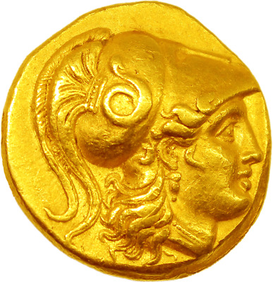 Alexander III the Great, Greek Gold Coin Stater, Babylone, -336-323, R2, Spl.