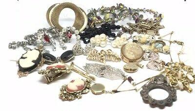 Antique-vintage Costume Jewelry Lot Wearable And TLC