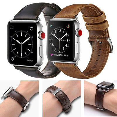 Classic Leather Watch Band Wrist Strap Bracelet For Apple Watch Series 4/3/2/1