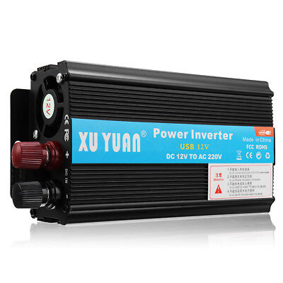 Power Inverter 3000W/4000W/5000W DC12V to110V/220VAC USB Sine Wave Home Caravan