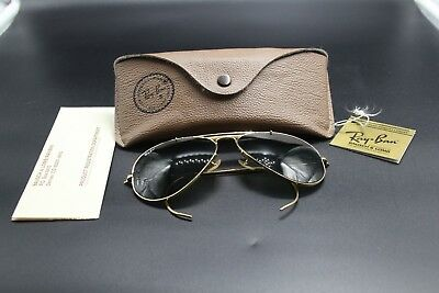 Vintage Ray Ban Bausch And Lomb Aviator 58014 Sonnenbrille inkl. Hülle