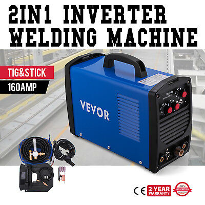 160 Amp TIG Torch Stick ARC DC Welder 110/230V Dual Voltage Stable Efficient