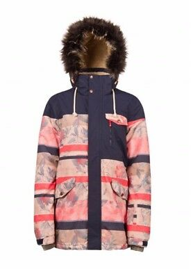 Protest Womens Plucky Ski Snowboard Jacket Coat Snow Floral RRP £270