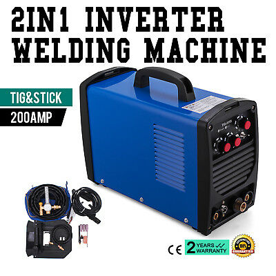 TIG-205S 200A TIG Stick ARC DC Welder 3.2mm Rod Tig Torch Dual Voltage BRAND NEW