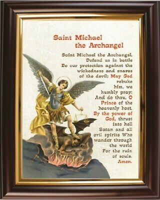 graphic about St. Michael the Archangel Prayer Printable named SAINT MICHAEL ARCHANGEL Framed Prayer Other Spiritual Prints