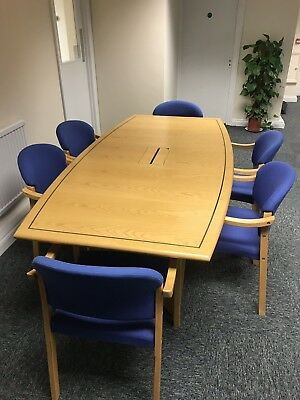Meeting Conference Table With 6 Chairs