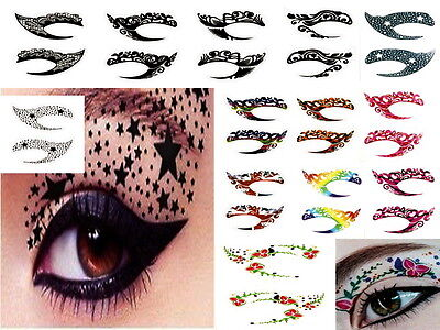 TRANSFER EYE ROCK TEMPORARY TATTOO FACE STICKER ART please chose your style
