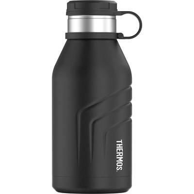 Thermos Element 5 Vac. Insulated 32 oz Beverage Bottle with Screw Top Lid, Black