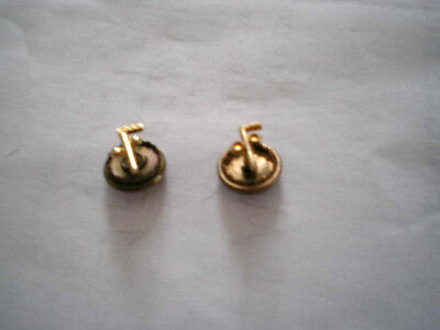 Pair of Antique 10K GOLD MASONIC  & IOOF ODD FELLOWS  (F) SCREWBACK PINS/Lapels