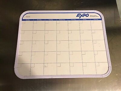 Expo Dry Erase Board - One Month Calendar Board