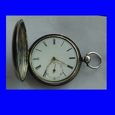 Stunning Victorian Silver Fusee Norgrove of Birmingham Hunter Pocket Watch 1875