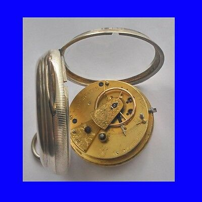 Superb Jewish Silver Fusee Aronson of Manchester Goliath Pocket Watch 1891