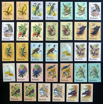 BARBADOS Beautiful Birds Selection of 34 U/M with Values to $10 BH33