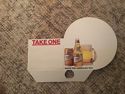 New Vintage Miller High Life cardboard Bar Sign Made the American Way