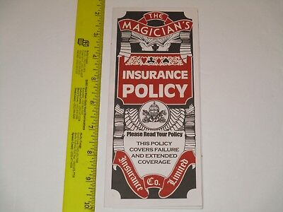 Magician's Insurance Policy Magic Trick - A Classic Easy To Do, Stage Close-Up